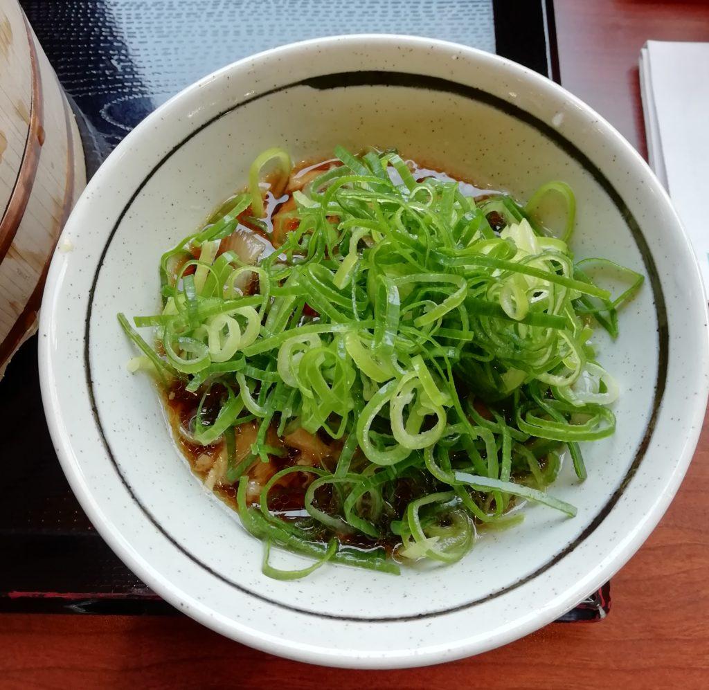 丸亀製麺 牛汁 ネギ盛り
