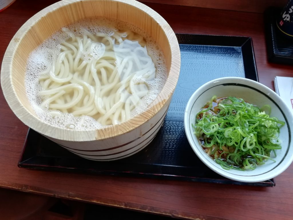 丸亀製麺 釜揚げうどん得 牛汁