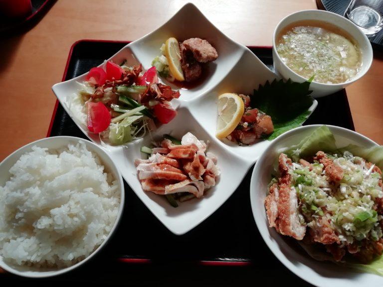 日田 タンタン お好みセット 油淋鶏