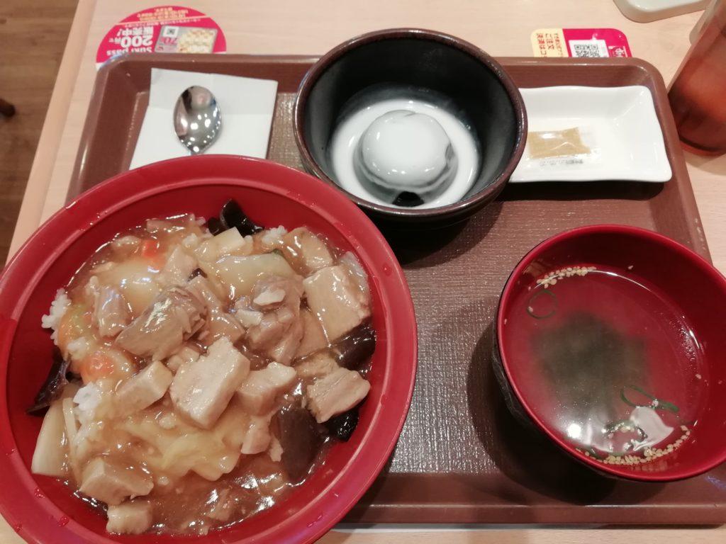 すき家 とろうま豚中華丼セット