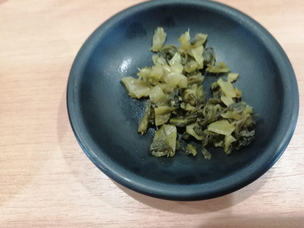 天ぷら まる喜 高菜の漬物