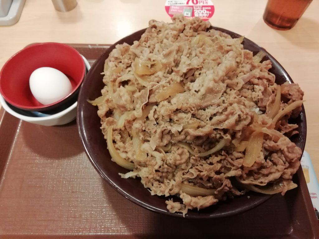 すき家 キング牛丼 卵