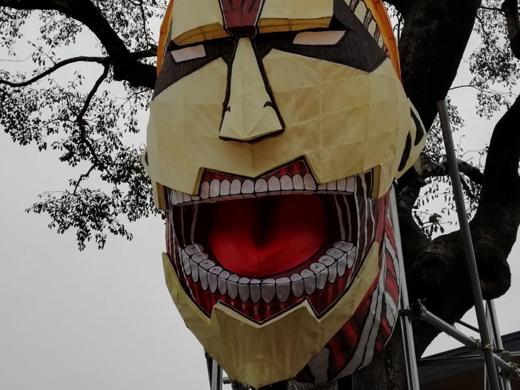 日田駅 鎧の巨人 ランタン