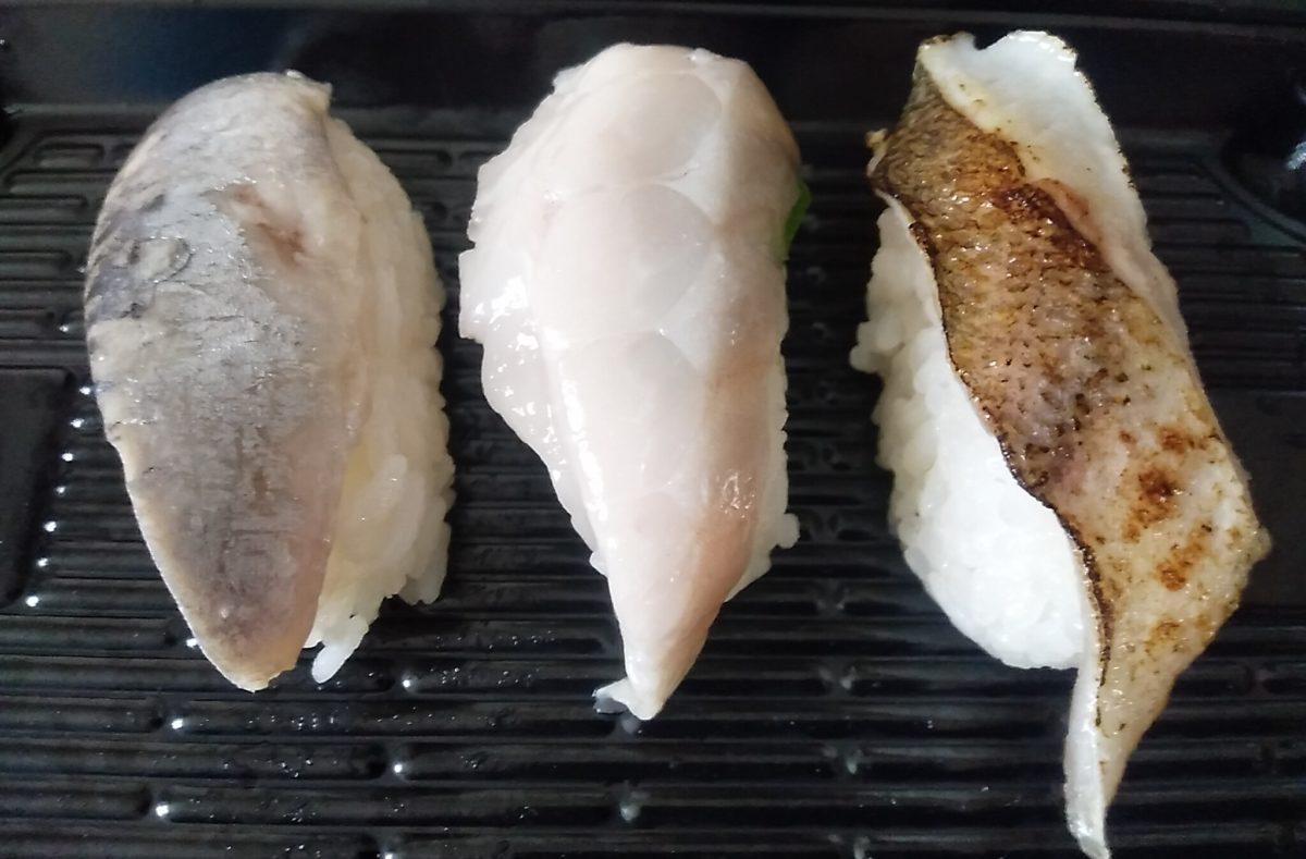 スシロー 三貫盛り祭 テイクアウト 天然魚三貫盛り