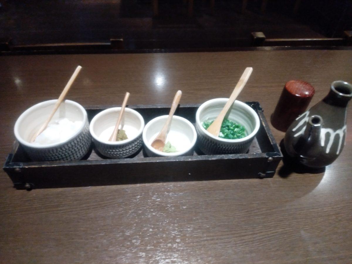 日田まぶし 薬味